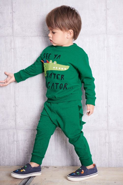 Next Later Alligator Crew And Jogger Set (3mths-6yrs)