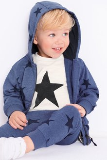 Next Star All Over Print Zip Through, T-Shirt And Jogger Set (3mths-6yrs)