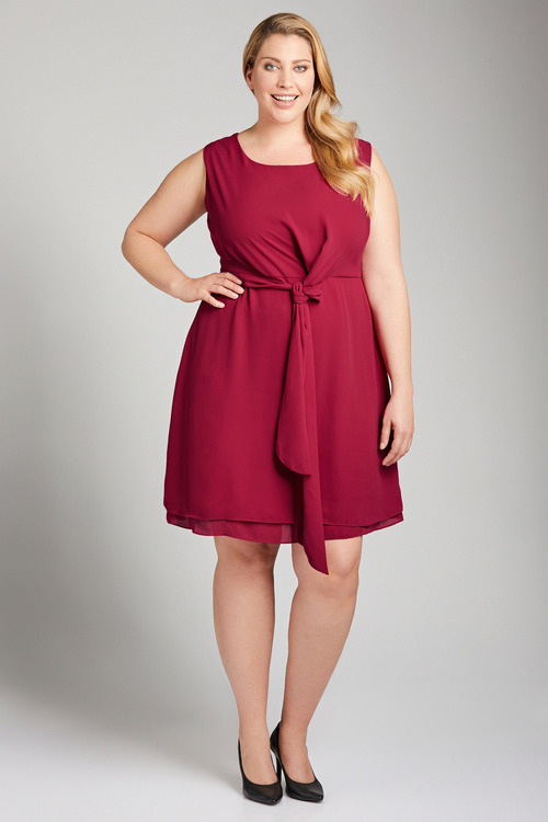 Plus Size - Sara Side Tie Dress