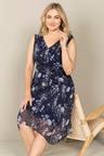 Plus Size - Sara V Neck Dress
