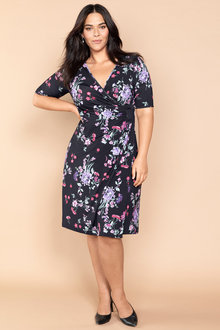 Plus Size - Sara Gather Front Dress