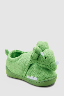 Next Knitted 3D Dinosaur Slippers (Younger)