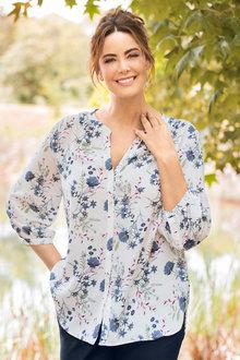 Plus Size - Sara Collarless Shirt