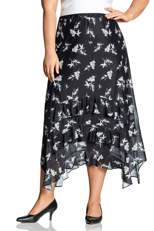 Plus Size - Sara Mesh Skirt