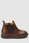 Next Borg Lined Leather Chelsea Boots (Younger)