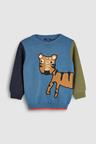 Next Tiger Textured Crew (3mths-6yrs)