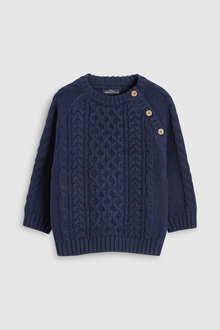 Next Cable Crew Sweater (3mths-6yrs)
