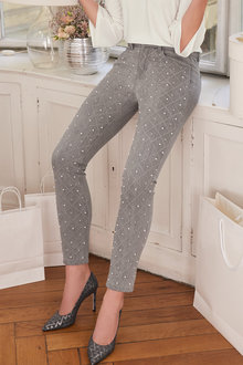 Heine Pearl Beaded Jean