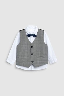 Next Check Waistcoat Set (3mths-6yrs)