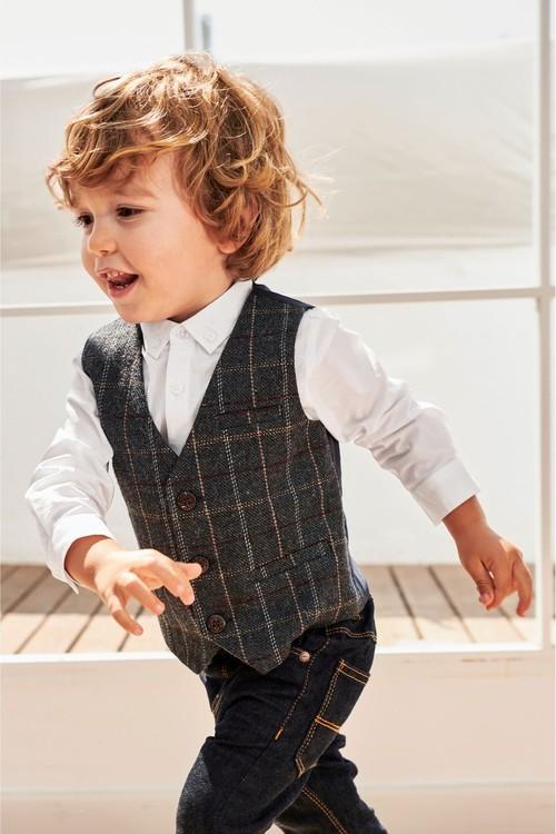 Next Waistcoat, Shirt And Bow Tie Three Piece Set (3mths-6yrs)