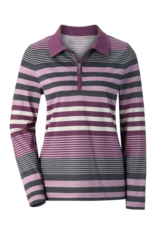 Capture European Striped Polo Top