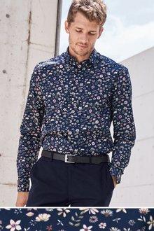 Next Long Sleeve Smart Floral Print Shirt