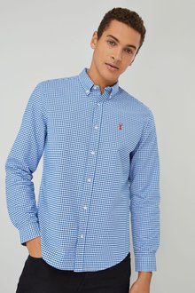 Next Long Sleeve Gingham Check Shirt