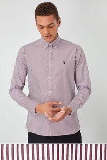 Next Long Sleeve Striped Poplin Shirt