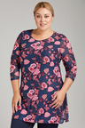 Plus Size - Sara Scoop Hem Tunic