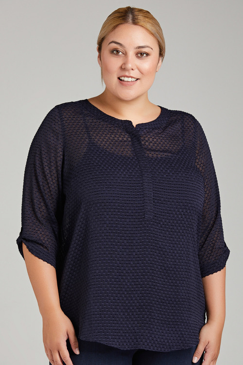 Plus Size - Sara Textured Blouse