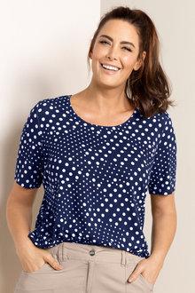 Plus Size - Sara Multi Spot Tee