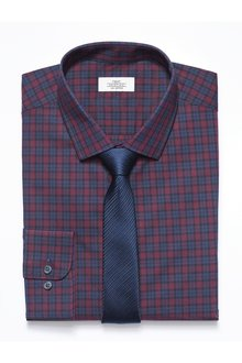 Next Check Shirt With Tie Pack