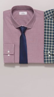 Next Mini Gingham Shirt And Tie Set - Regular Fit Single Cuff