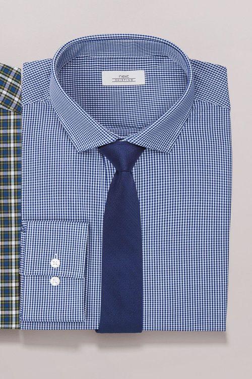 Next Mini Gingham Shirt And Tie Set - Regular Fit Single Cuff