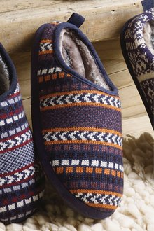 Next Chevron Knitted Mule