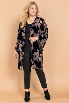 acf0649dea Plus Size - Sara Burnout Kimono