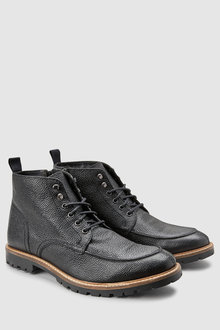 Next Textured Apron Lace-Up Boot