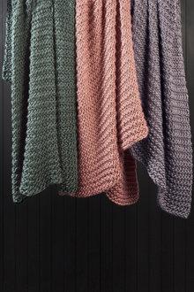 Hand Knit Acrylic Throw - 220240