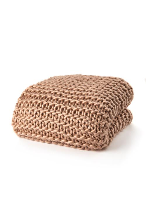 Hand Knit Acrylic Throw