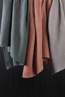 Knitted Wool Throw - 220242