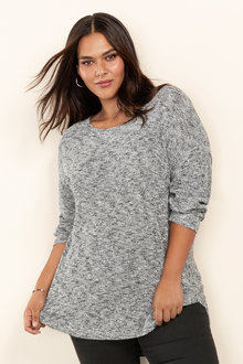 Plus Size - Sara X Back Sweater