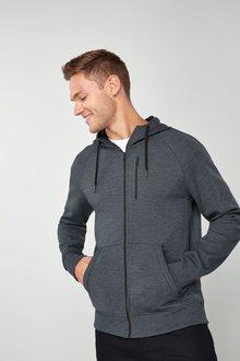 Next Fabric Interest Zip Through Hoody