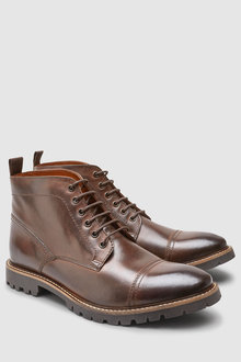 Next Toe Cap Lace-Up Boot