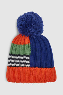 Next Colour Block Pom Beanie (Younger)