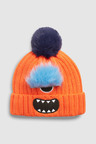 Next Faux Fur Monster Pom Beanie (Younger)