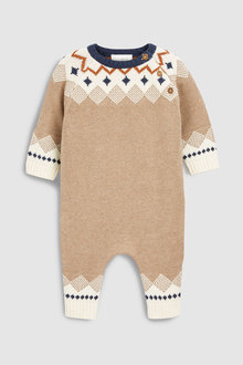 Next Pattern Knit Romper (0mths-2yrs)