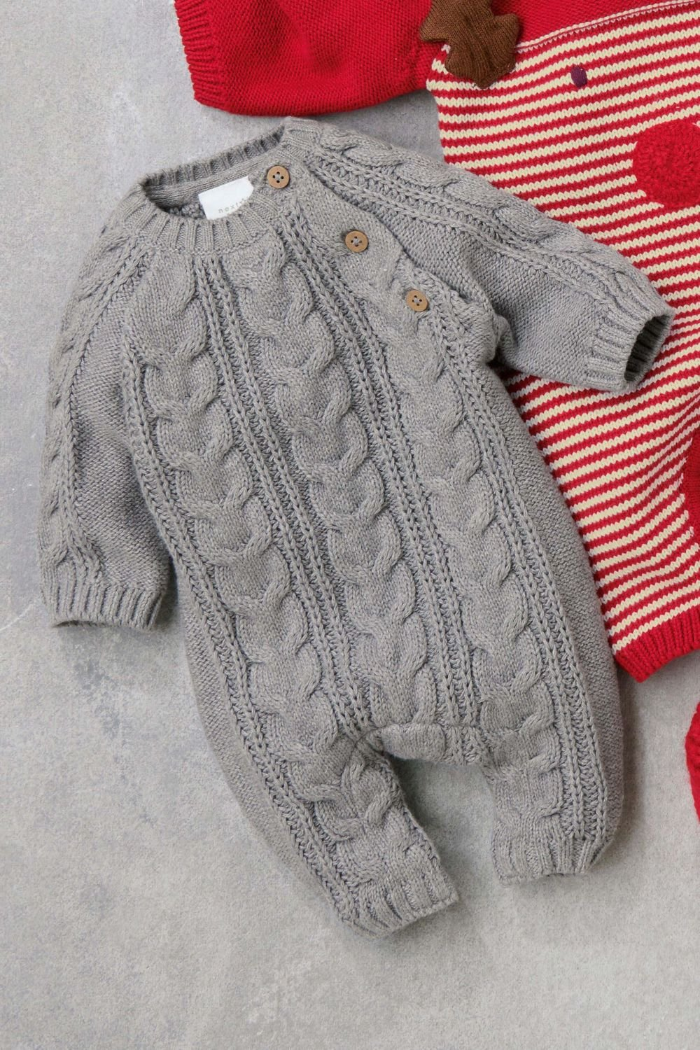 013396ee454d Next Cable Knit Romper (0mths-2yrs) Online