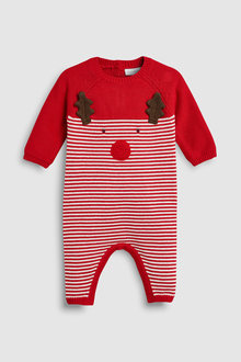 Next Reindeer Knit Romper (0mths-2yrs)