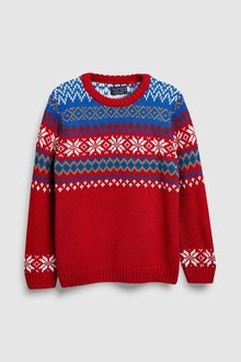 Next Pattern Knitted Crew (3-16yrs)