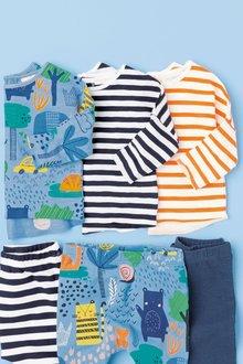 Next Print And Stripes T-Shirts Three Pack (0mths-2yrs)