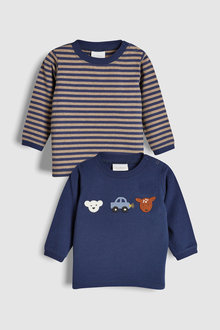 Next Crochet Animal And Stripe T-Shirt Two Pack (0mths-2yrs)