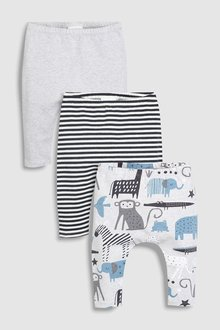 Next Animal Leggings Three Pack (0mths-2yrs)