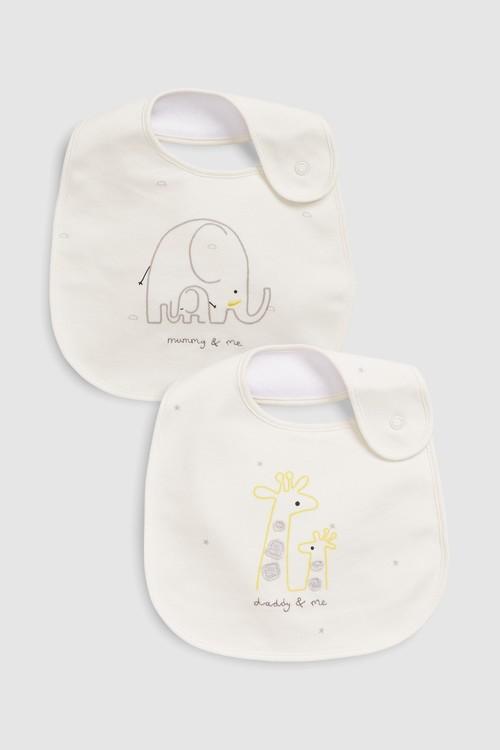 Next Mummy & Daddy Regular Bibs Two Pack