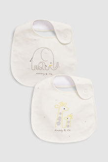 Next Mummy & Daddy Regular Bibs Two Pack