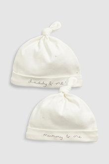 Next Mummy & Daddy Tie Top Hats 2 Pack