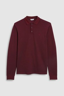 Next Long Sleeve Premium Oxford Polo
