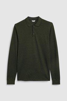 Next Long Sleeve Premium Oxford Polo