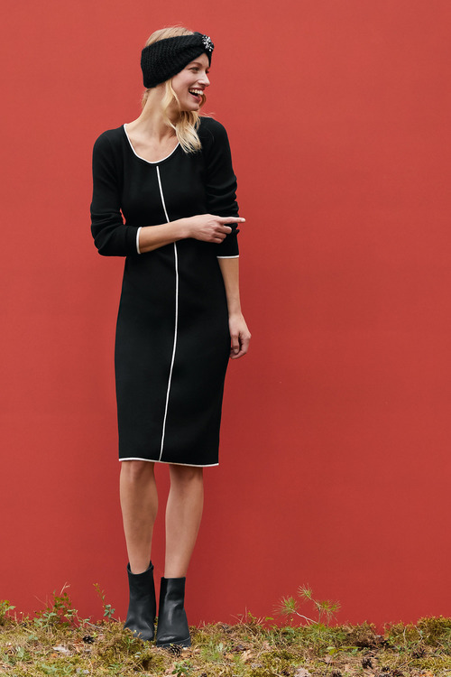 Heine 3/4 Sleeve Knit Dress