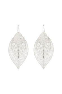 Amber Rose Fliigree Leaf Earrings