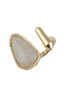Amber Rose Halcyon Stone Finger Ring